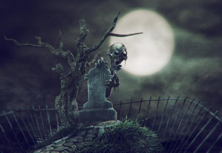 halloween graveyard monster 1
