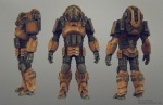 mech suit multiple views